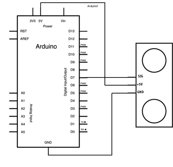 capteur de distance ultrasonique (ultrasonic distance sensorUltrasonicsensor Circuit Diagram For Arduino #20
